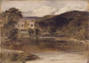 "Edwin Henry Landseer ""Bolton Abbey, Yorkshire"" c. 1830-1835"
