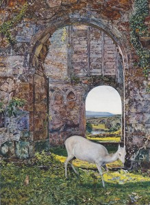 "John William Inchbold ""The White Doe of Rylstone"" (1855)"
